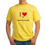 I Love My Dendrochronologist Yellow T-Shirt