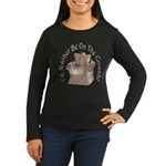 Rather Be on the Couch! Women's Long Sleeve Dark T