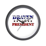 DRAVEN for president Wall Clock