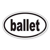 ballet euro oval sticker