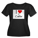 I Love My Cutler Women's Plus Size Scoop Neck Dark
