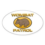 Wombat Patrol Oval Decal
