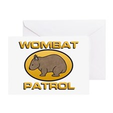 Wombat Patrol Greeting Card