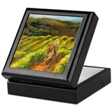Vineyard Canter Horserider Keepsake Box