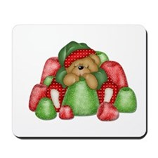 Christmas Bear with Gumdrops Mousepad