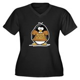 Not a Turkey Penguin Women's Plus Size V-Neck Dark