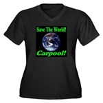 Save The World Carpool! Women's Plus Size V-Neck D
