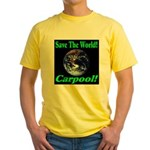 Save The World Carpool! Yellow T-Shirt