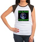 Save The World Carpool! Women's Cap Sleeve T-Shirt