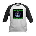 Save The World Carpool! Kids Baseball Jersey