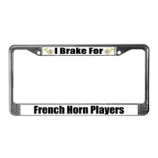I Brake For French Horn Players License Frame