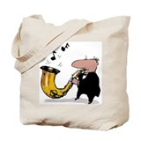 Wonky Sax Player Tote Bag
