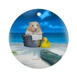 Adorable Hamster Ornament (Round)