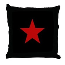 Red Star Throw Pillow