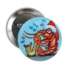"Funny Jazz christmas 2.25"" Button (10 pack)"