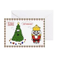 My Balls Dropped Greeting Cards (Pk of 10)