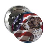 German Shorthair Pointer Dog US Flag Button (100)