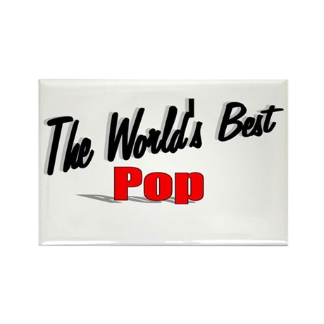 """The World's Best Pop"" Rectangle Magnet"