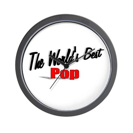 """The World's Best Pop"" Wall Clock"
