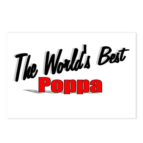 """The World's Best Poppa"" Postcards (Package of 8)"