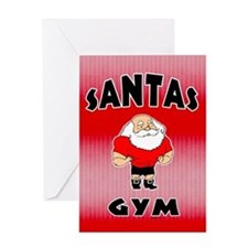 Santa's Gym Greeting Card