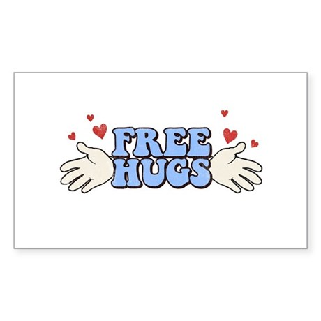 Free Hugs Rectangle Sticker