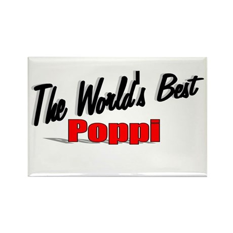 """The World's Best Poppi"" Rectangle Magnet"