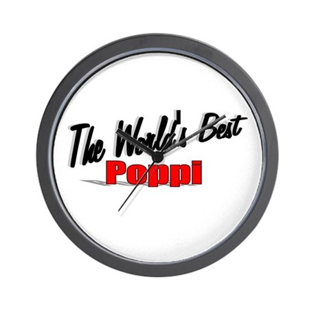 """The World's Best Poppi"" Wall Clock"