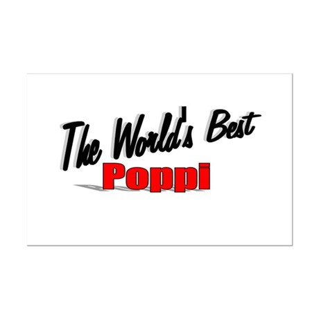 """The World's Best Poppi"" Mini Poster Print"