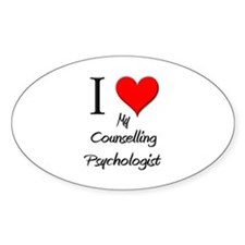 I Love My Counselling Psychologist Oval Decal