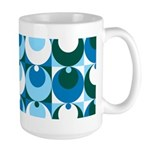 Blue Circles Large Mug