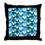 Blue Circles Throw Pillow