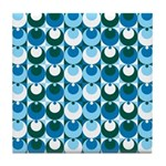 Blue Circles Tile Coaster
