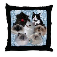 Himalayan Kitten Throw Pillow
