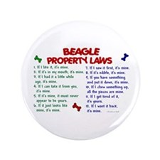 "Beagle Property Laws 2 3.5"" Button (100 pack)"