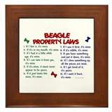 Beagle Property Laws 2 Framed Tile