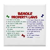 Beagle Property Laws 2 Tile Coaster