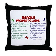Beagle Property Laws 2 Throw Pillow