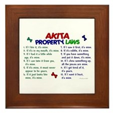 Akita Property Laws 2 Framed Tile