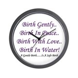 Waterbirth Advocacy Wall Clock