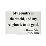 Thomas Paine 8 Rectangle Magnet