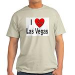 I Love Las Vegas (Front) Ash Grey T-Shirt
