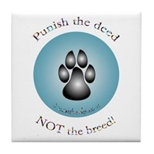 """Punish the deed"" Tile Coaster"