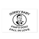 Sorry Baby, Pimps Don't Fall In Love Postcards (Pa