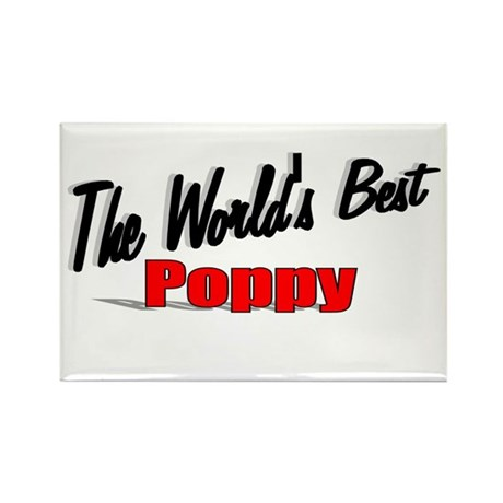 """The World's Best Poppy"" Rectangle Magnet"