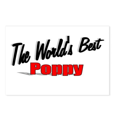 """The World's Best Poppy"" Postcards (Package of 8)"