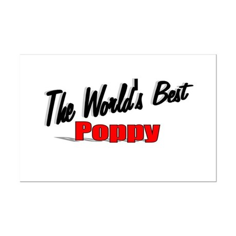 """The World's Best Poppy"" Mini Poster Print"