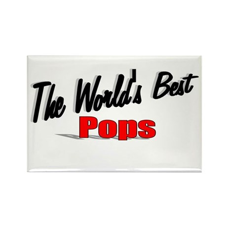 """The World's Best Pops"" Rectangle Magnet"
