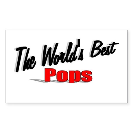 """The World's Best Pops"" Rectangle Sticker"
