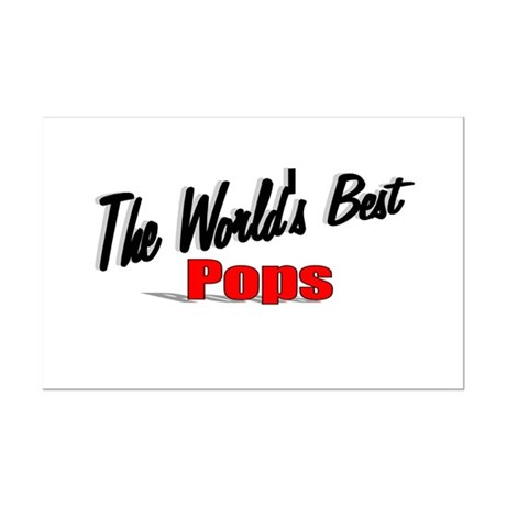 """The World's Best Pops"" Mini Poster Print"